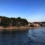 Bootslinie Ražanj Rogoznica - Blick zurück auf Razanj