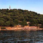 Blick auf den Park von Rogoznica
